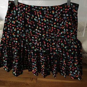 Hinge polka dot short skirt